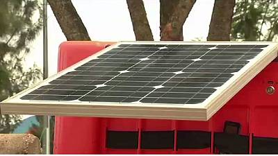 'Solar smart kiosks' saving mobile phone users in Rwanda