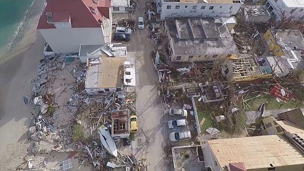 Saint-Martin dopo Irma vista dall'alto