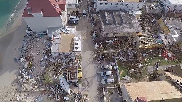 Drone filma estragos causados pelo Irma na ilha de São Martinho, nas Caraíbas