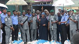 [Photos] Nigeria authorities impound 1,100 rifles at Lagos port