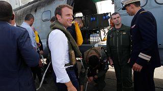 Emmanuel Macron est sur l'île meurtrie de Saint-Martin