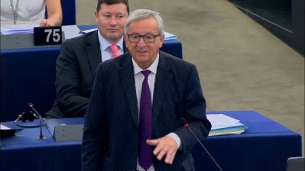Juncker yıllık konuşmasını yapmaya hazırlanıyor