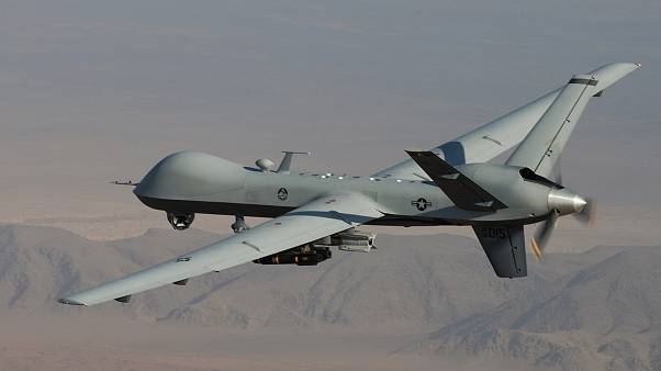 A Reaper drone during a combat mission over Afghanistan.