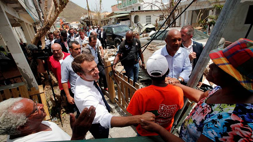 Los líderes europeos visitan las islas dañadas por Irma