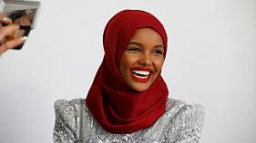 Former refugee becomes world's first hijab-wearing super model