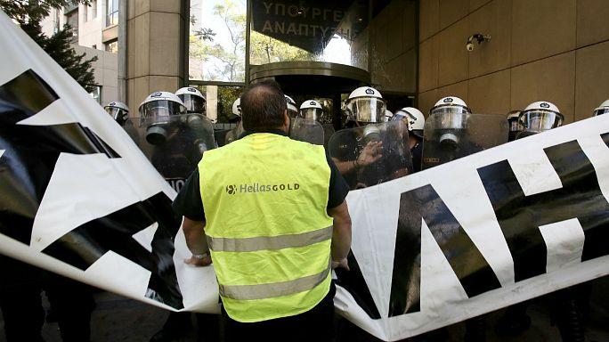Grecia: la protesta dei minatori