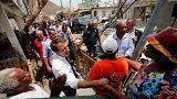 A francia elnök Saint Martin szigetre látogatott