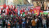 Tüntettek Netanjahu ellen Argentínában