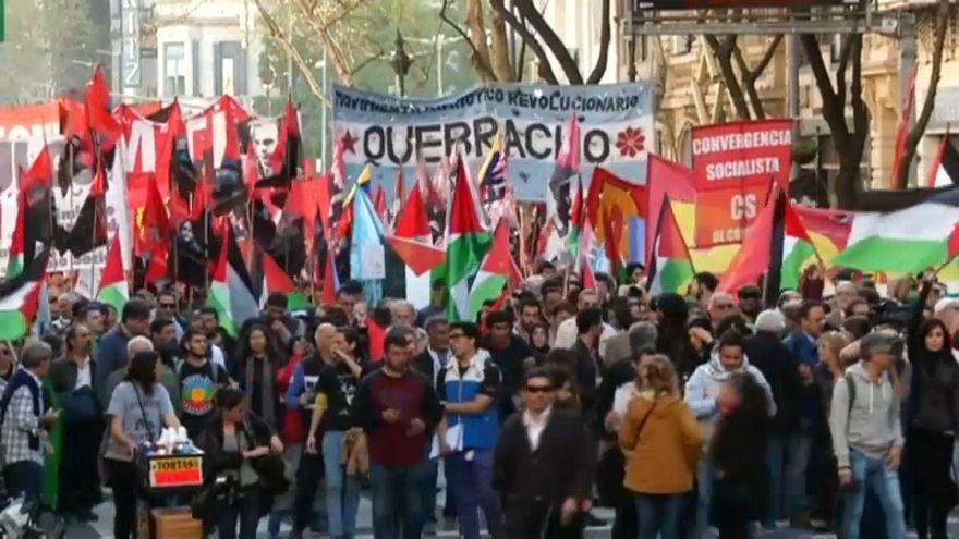 Protestas contra la visita de Nentayahu a Argentina