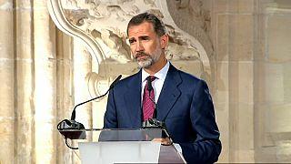 Re Felipe di Spagna contro il referendum per l'indipendenza della Catalogna
