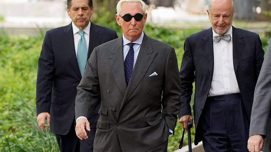 Image: Roger Stone arrives for status hearing at U.S. District Court in Was
