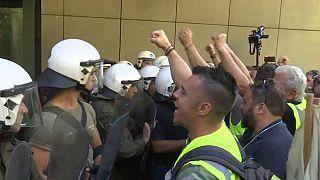 Protesta minera en Atenas