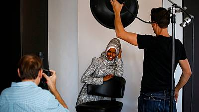 [Photos] Somalia's Hijab-wearing model: from refugee camp to U.S. runway