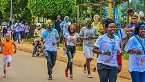 Ugandans run 5km in colour to promote child literacy