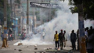 Haiti'de vergi politikası protesto edildi