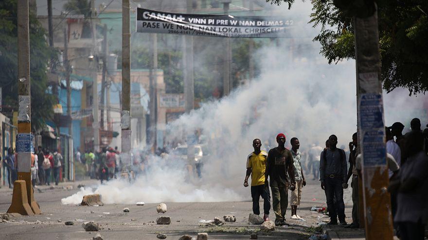 Des Haïtiens en colère à Port-au-Prince