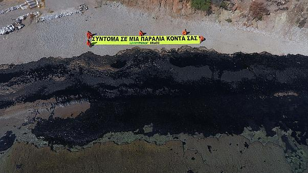 Greek oil spill spreads: fears grow for marine life