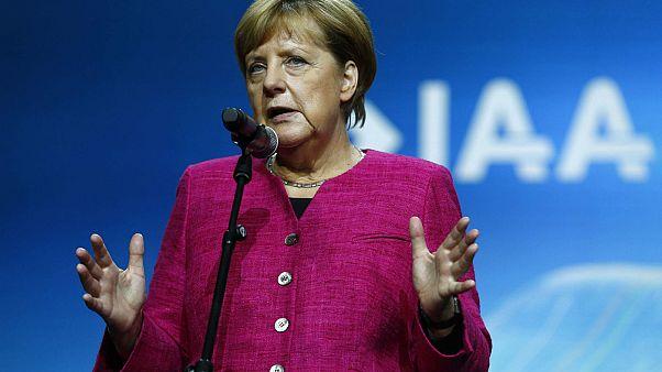 Angela Merkel opens Frankfurt Motor Show