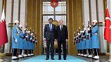 الأمير تميم يتباحث مع أردوغان في أنقرة