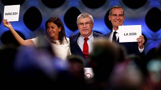 باريس تحتفل بقرار استضافتها لدورة الألعاب الأولمبية 2024