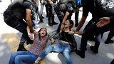 Акция протеста в защиту голодающих учителей