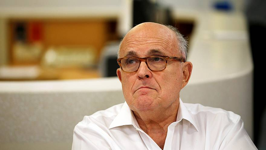 Image: U.S. President Donald Trump's attorney Rudy Giuliani is seen during