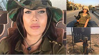 مراسلة سورية تستعرض جمالها أثناء تغطية المعارك ضدّ داعش
