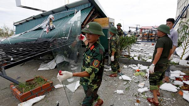 Typhoon Doksuri batters central Vietnam