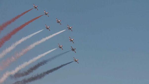 Látványos légi parádé Görögországban