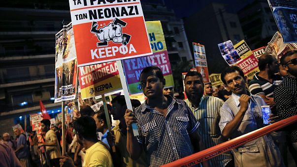 Tüntetés és utcai harc Athénban