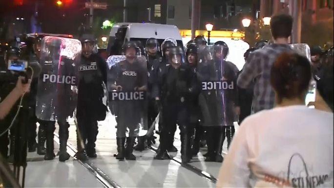 Вторая ночь беспорядков в Сент-Луисе