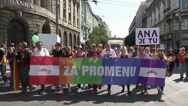 Serbia's lesbian PM joins Belgrade Pride Parade