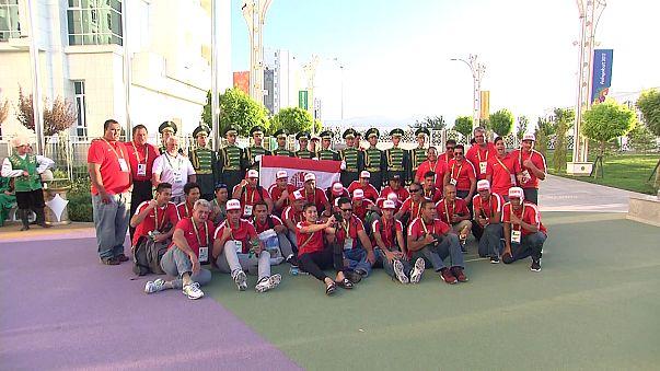 عشق آباد: افتتاح الدورة الخامسة لألعاب الصالات والفنون القتالية