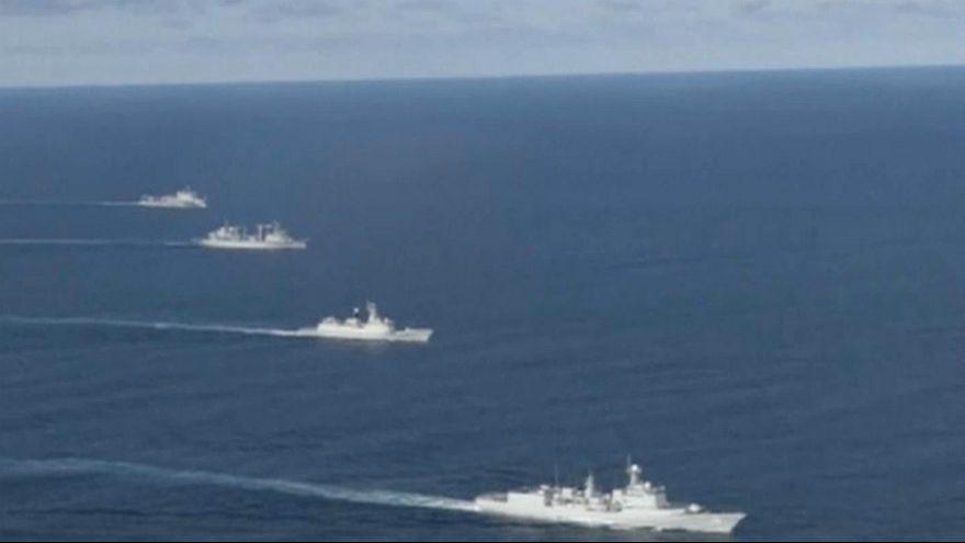 China faz exercícios militares no Mar do Japão
