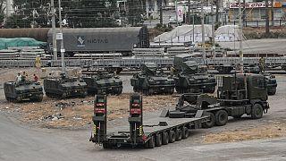 Suriye sınırına askeri sevkiyat