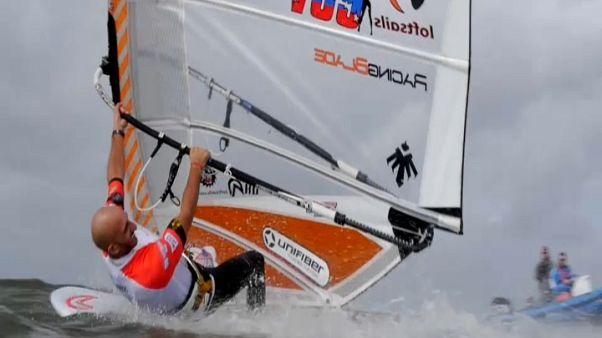 Rüzgar Sörfü Dünya Şampiyonası'nda Lena Erdil ikinciliğe yükseldi