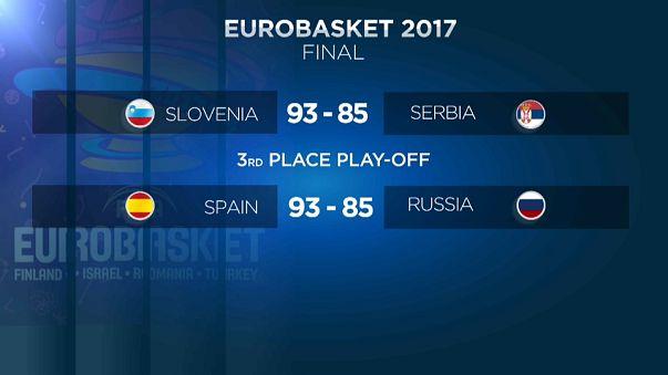 España, bronce en un Eurobasket que coronó a Eslovenia
