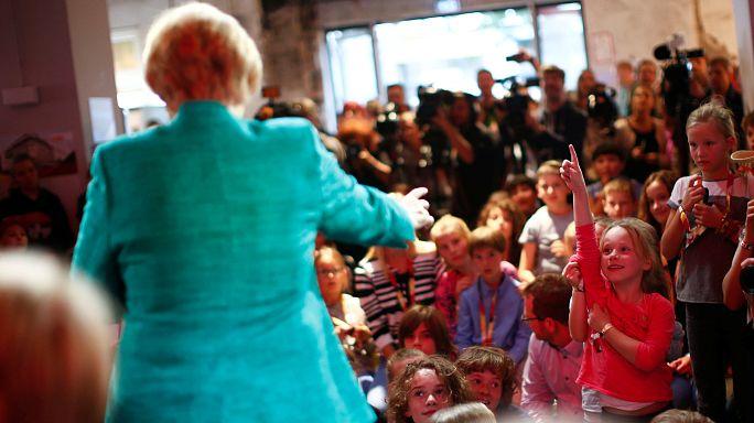 A német gyerekek többsége Merkelre szavazna