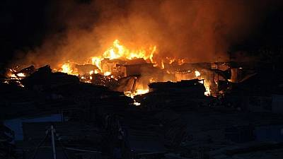 Fire burns down main market in north of Ivorian capital Abidjan