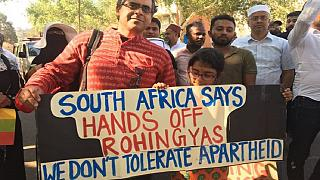 South Africa, Senegal, Ghana march against Rohingya violence in Myanmar