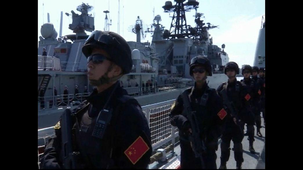 Orosz-kínai hadgyakorlat a tengeren