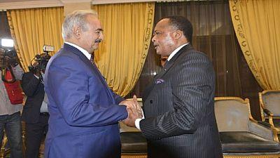 Haftar puts faith in Sassou Nguesso-led AU group to help solve Libya's crisis