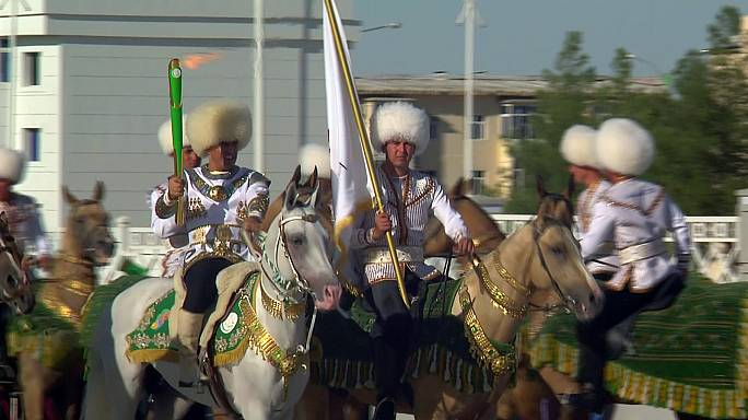L'enthousiasme des Turkmènes pour leurs Jeux asiatiques