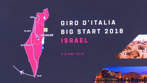 Izrael a Giro 2018 térképén