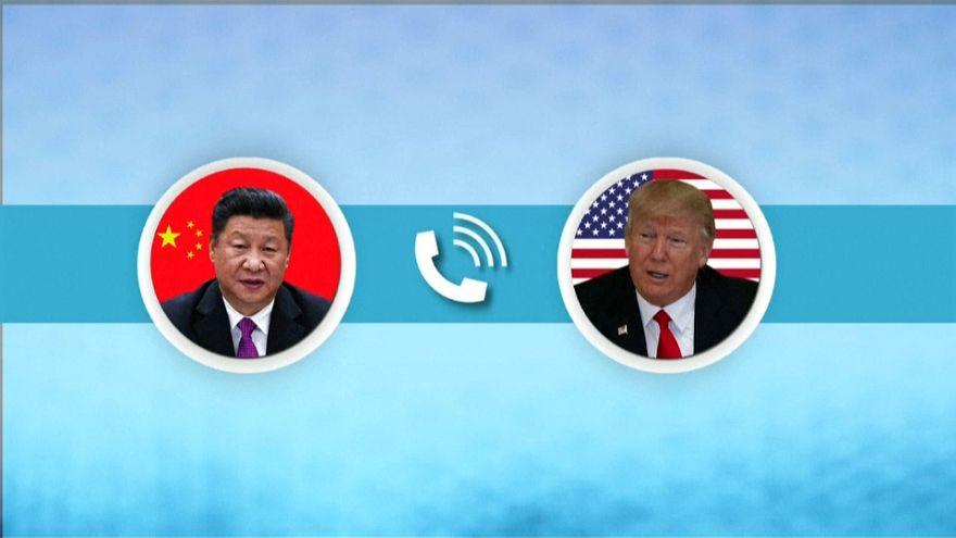 ترامب وشي يتفقان على الضغط على كوريا الشمالية