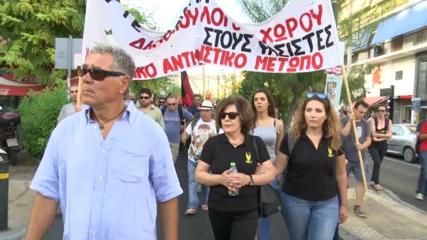 Yunanistan'da ırkçılık karşıtı yürüyüş