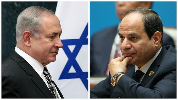 نخستین دیدار علنی نتانیاهو و السیسی در نیویورک