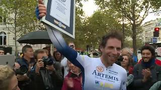 Around the world in 79 days: British cyclist smashes world record