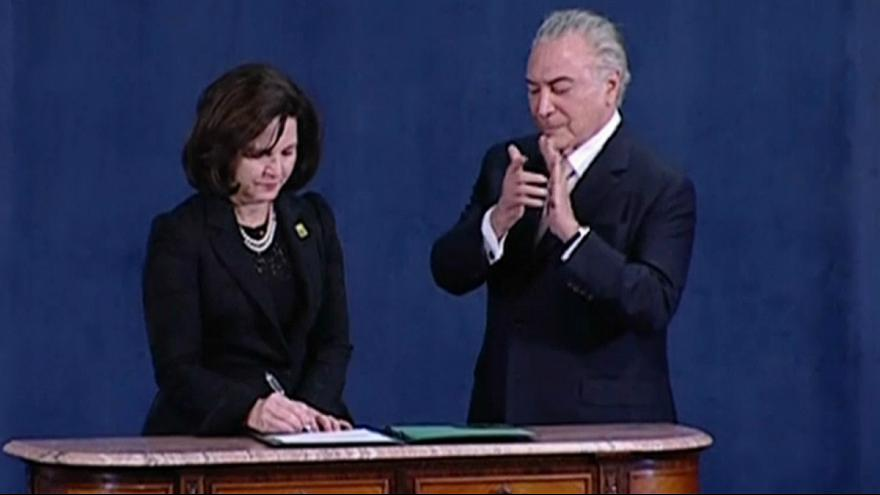 Raquel Dodge sworn in as Brazilian Attorney General saying she will maintain graft fight