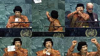 Throwback to former Libyan leader Gaddafi's historic speech at the UN [Video]